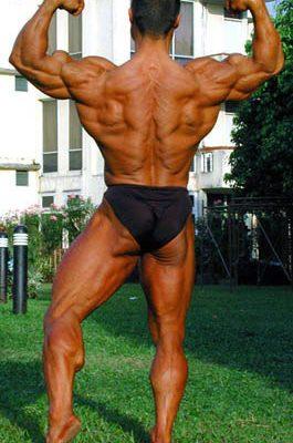 Doppelbizeps - Rückenseite
