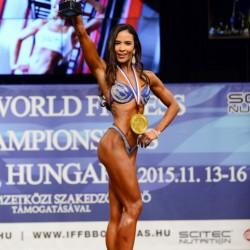 Reanta Benigno-Wißkirchen wurde Weltmeisterin und Gesamtsiegerin in der Bodyfitness/Fitness-Figurklasse